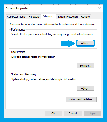 Windows-10, Advance System setting Screen-3