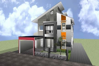 Atap rumah memang sangat penting keberadaanya yang dipakai sebagai pelindung rumah dari  Model Rumah Minimalis Atap Miring Dengan Bentuk Yang Unik