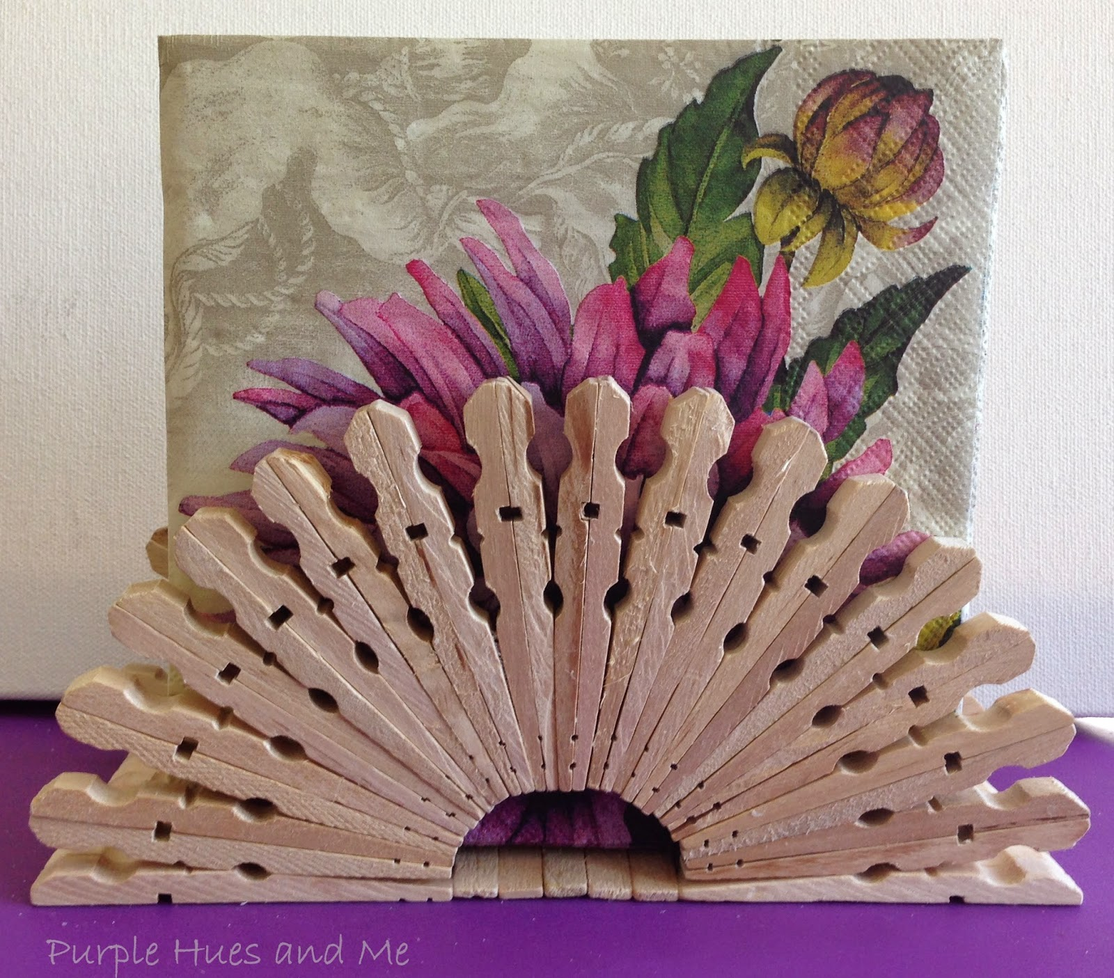 Vintage, Paint and more... clothespin napkin holder feature