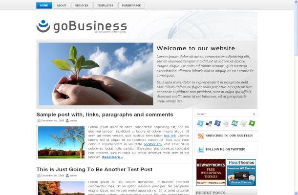 Free Wordpress Modern Business Theme Template