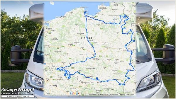 Trasa wyprawy Kamperem przez Polskę