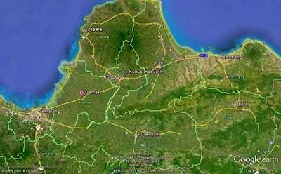 Map Keraton Demak dan Pulau Muria