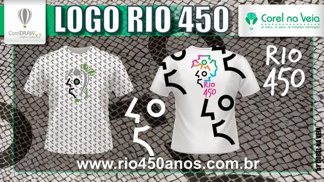 Logotipo Rio 450 Anos corelnaveia Camisas