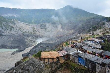 Tangkuban Perahu is one of prevalent mountains in West Java, the separation is around 20 Km from Bandung
