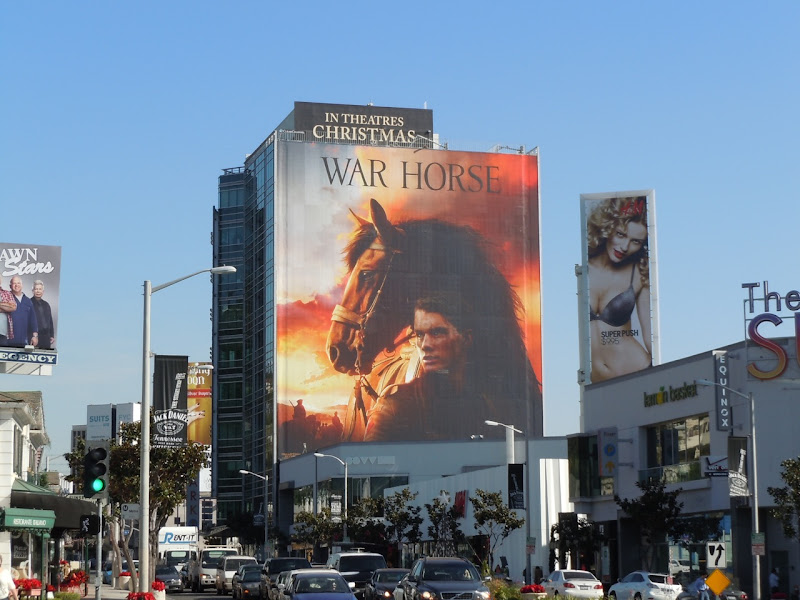 Giant War Horse Sunset Strip billboard