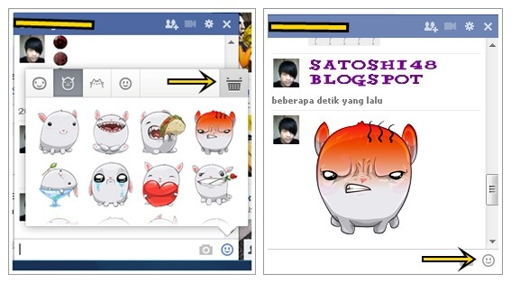 Add Sticker To Chat Facebook