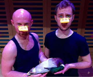 Andrew Walker and Guy Woolf in Dan Gillingwater's The Homosexual Necrophiliac Duck Opera - Tete a Tete the Opera Festival