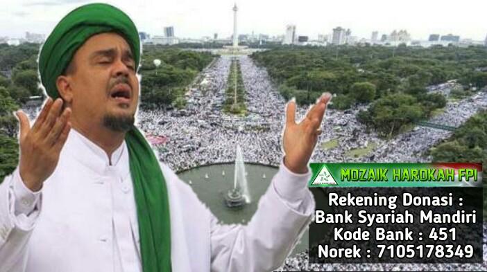 Rekening Donasi Mozaik Harokah FPI