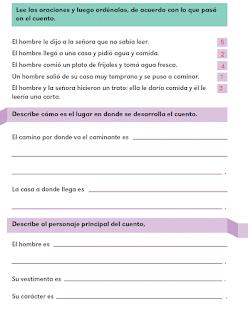 Respuestas Apoyo Primaria Español 2do grado Bloque 3 lección 19 Vamos a analizar el cuento