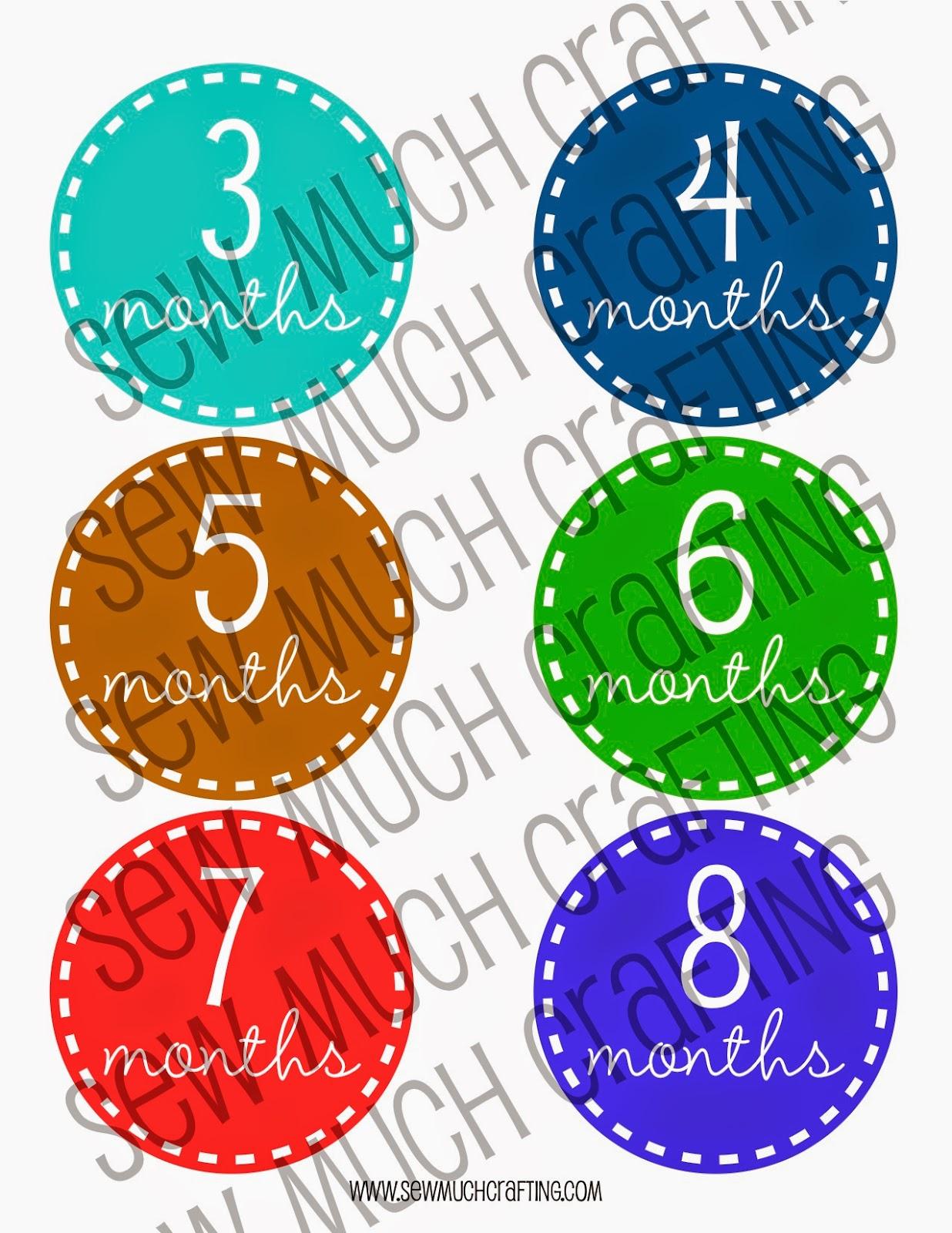 FREE Monthly Onesie Sticker Printables