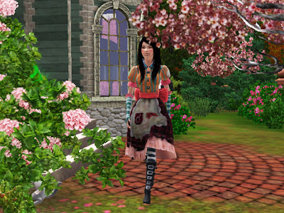 alice returns dress sims 3