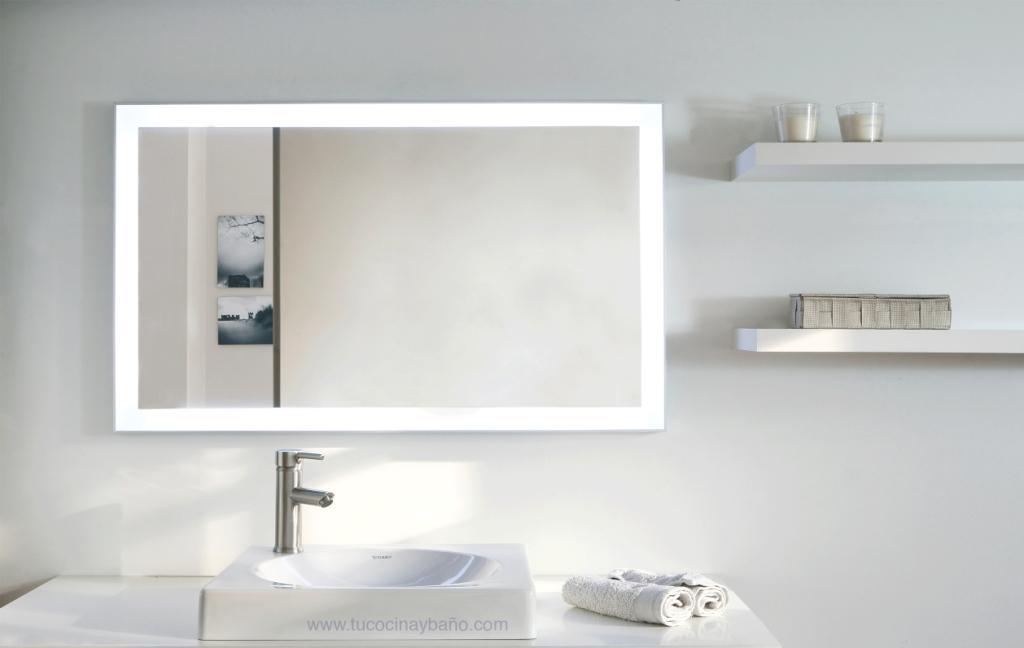 Espejo led ba o marco aluminio tu cocina y ba o - Imagenes iluminacion led ...