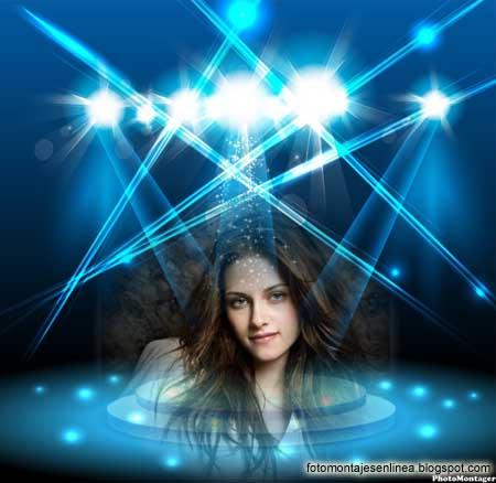 Fotomontaje Online de un Escenario, con efectos de Luz Y Flash.