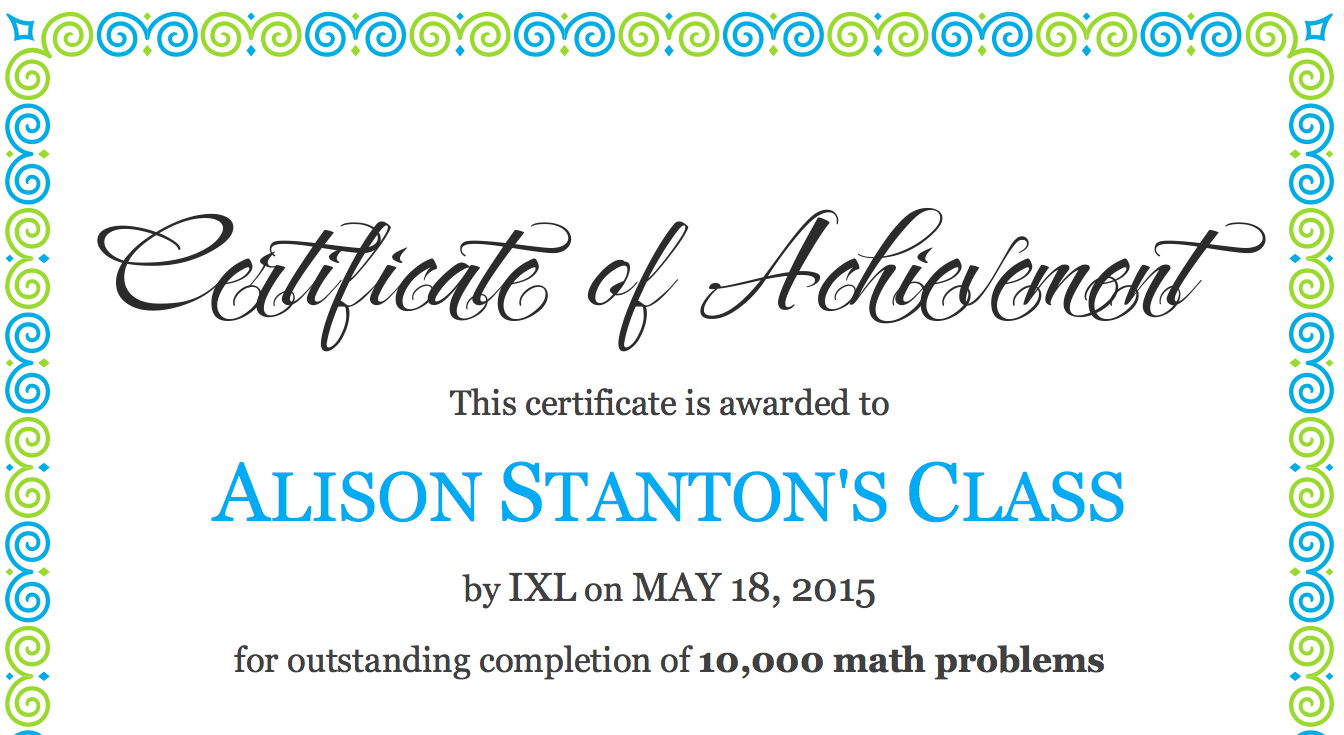 Ms Alisons Blog: Great work on IXL Grade 4/5 students