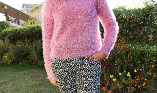 Fuzzy and Pink winter outfit