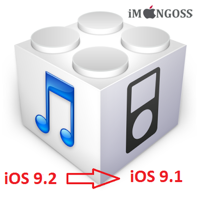 As Apple is still singing iOS 9.1, you can now downgrade back to iOS 9.1 from latest firmware iOS 9.2 which was released a days ago. If you feel iOS 9.1 is better than iOS 9.2 and had accidently upgraded via OTA update then you don't have to worry about. Apple is still signing the iOS 9.1 firmware, so downgrade is possible. So hurry up because Apple might stops signing iOS 9.1 at any time.