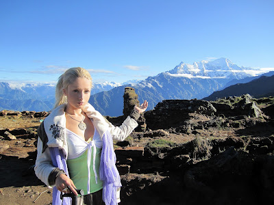 barbie on mountain