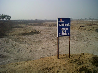 Golf Country, Yamuna Expressway :: Construction Status on July 2014 :-1255 sq ft Tower E-1 2 BHK +study