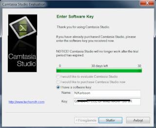 camtasia studio 8 key code
