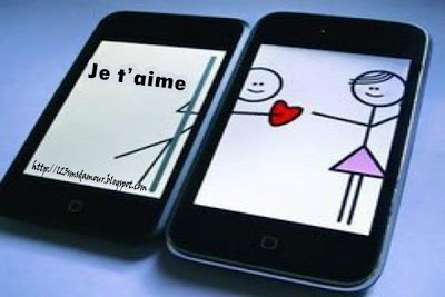 Message d'amour par portable