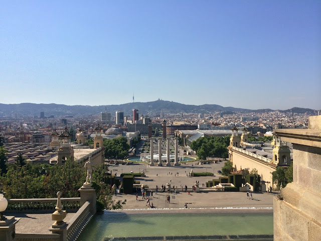 Barcelona, Spanyol,Eropa,Wisata,Travelling, Museu Nacional d'Art de Catalunya,The Palau Nacional, Montjuic