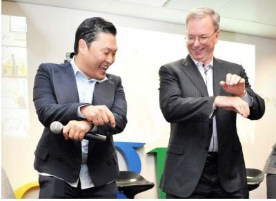 Eric Schmidt and Oppa Gangnam Style
