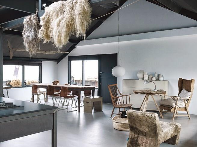 Moderne Landhausstil - Einrichten und Wohnen mit natürlichen Materialien und Second-Hand Leuchten und Möbeln