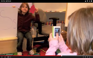 Kids recording a video