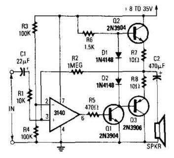 Ca3140 Audio Amplifier