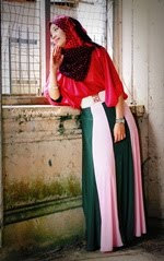 2 Layer Colour Block Maxi Skirt