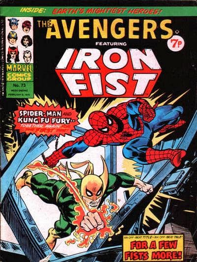 Marvel UK, the Avengers #73, Spider-Man and Iron Fist