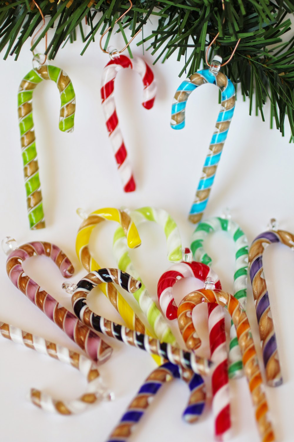 Glass candy cane ornaments - Candy Cane Tree Ornaments