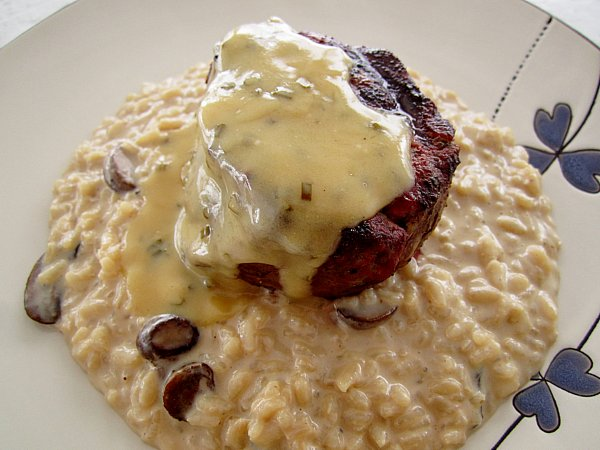 Filet Mignon With Herb-Butter Sauce And Mushrooms Recipe — Dishmaps
