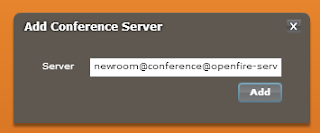 Add Conference Server in SparkWeb
