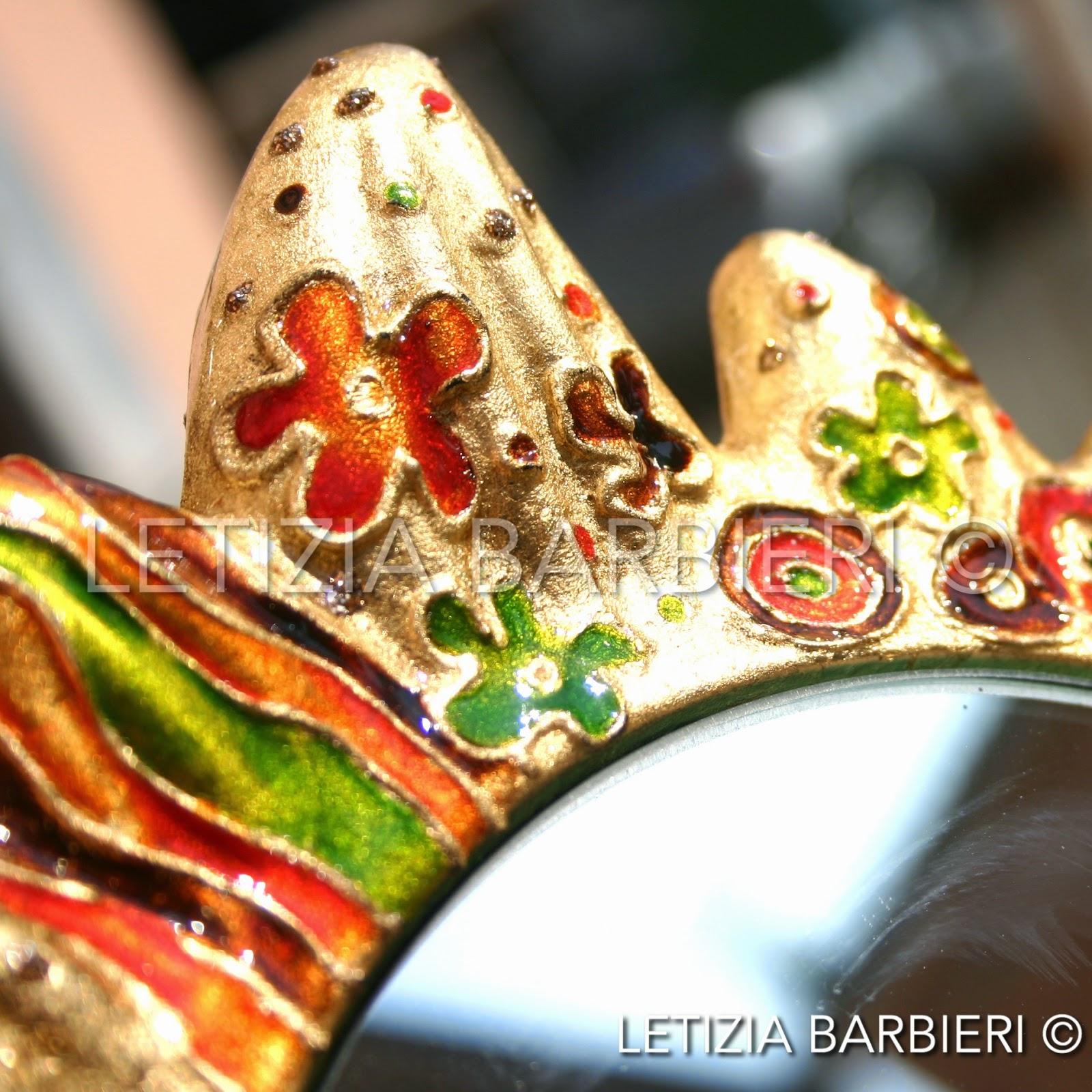 Forme Di Specchi Particolari.Letizia Barbieri Specchio In Stile Klimt Letizia Barbieri Per