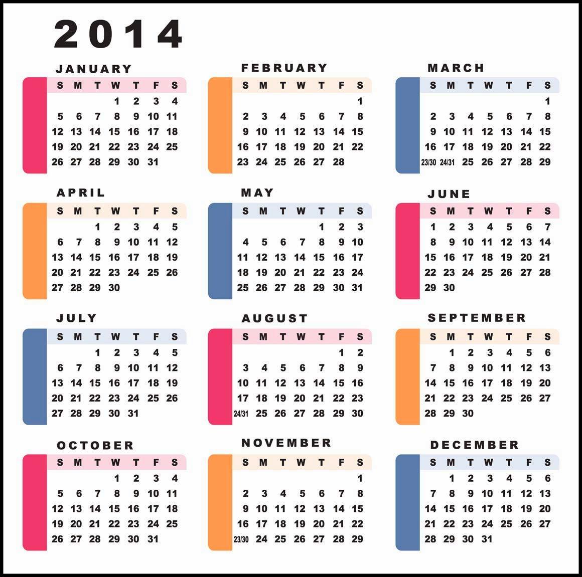 Calendar wallpaper