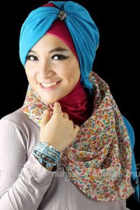 Nuhijab TS3 - Cream Cyan (Toko Jilbab dan Busana Muslimah Terbaru)