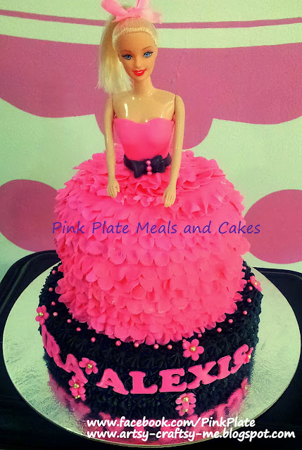 barbie cake with ruffles