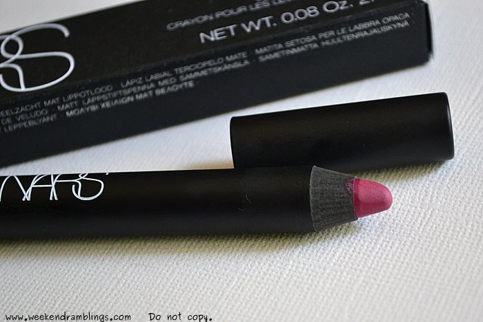 NARS Never Say Never Velvet Matte Lip Pencil Summer Makeup 2012 Collection Beauty Blog Looks Swatches Ingredients FOTD Reviews