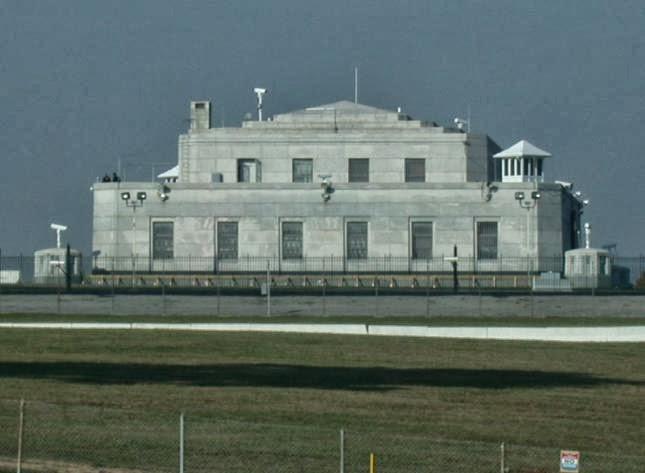 La cámara acorazada de Fort Knox en Kentucky