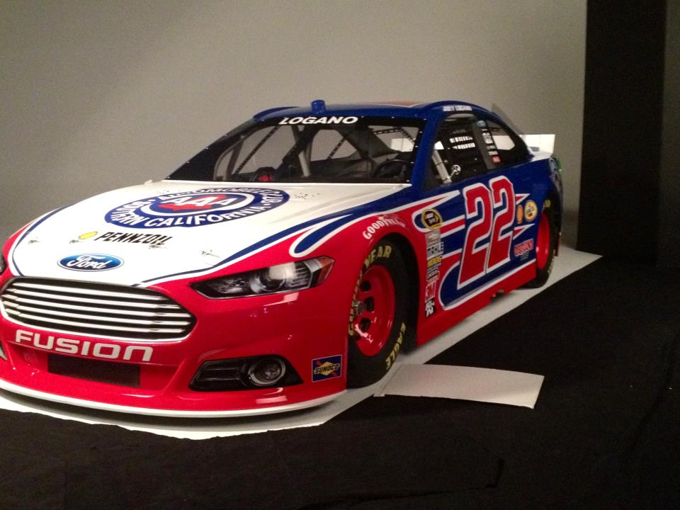 Joey Logano's No. 22 Auto Club of So. California Ford -- Penske Racing