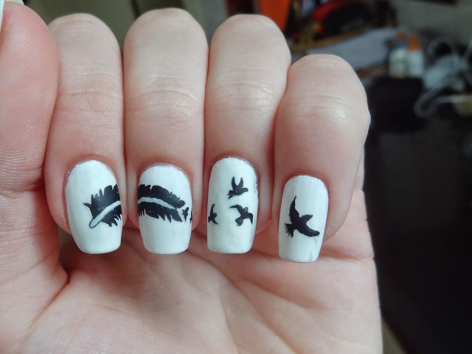 Lica Nails: Feather Swallow nail art