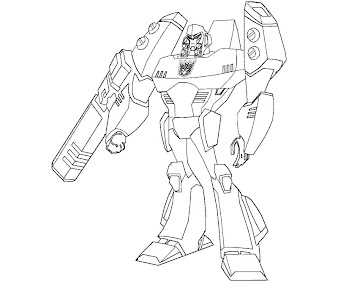 #7 Transformers Coloring Page