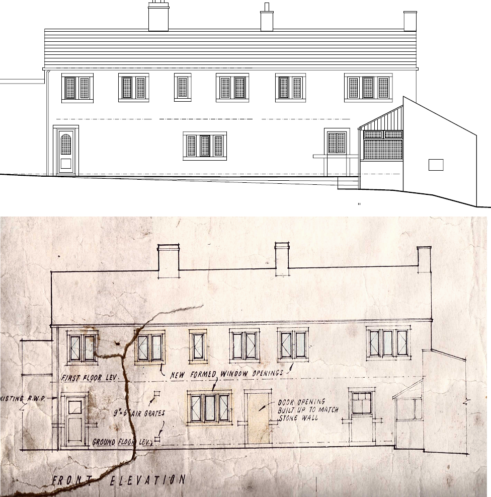 Front Elevation Planning Permission : Planning permission renovating hagg leys farm