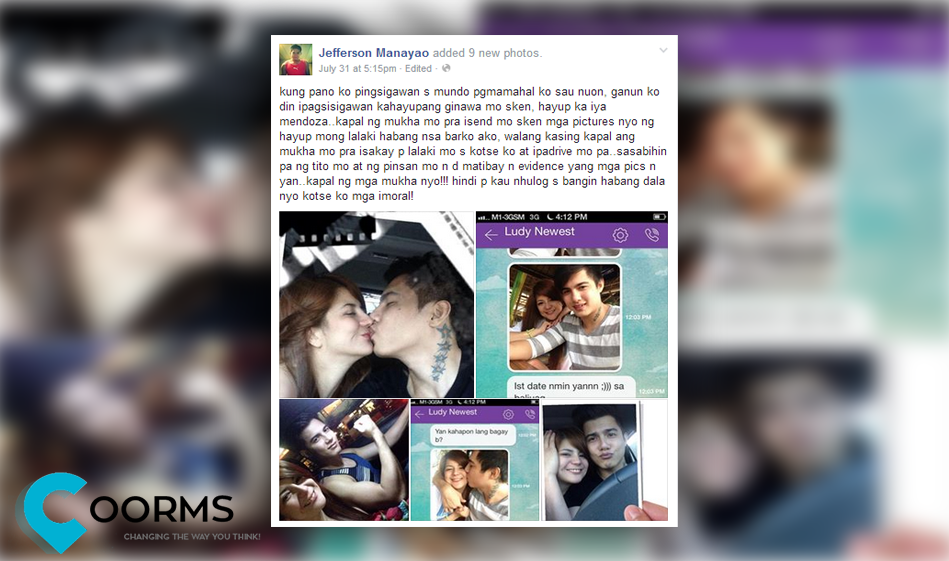 Jefferson Manayao status over his cheating girlfriend Iya Mendoza