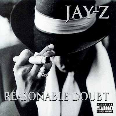 jay-z black and white - Reasonable Doubt - jay z first album - hip hop album - jay z 1996