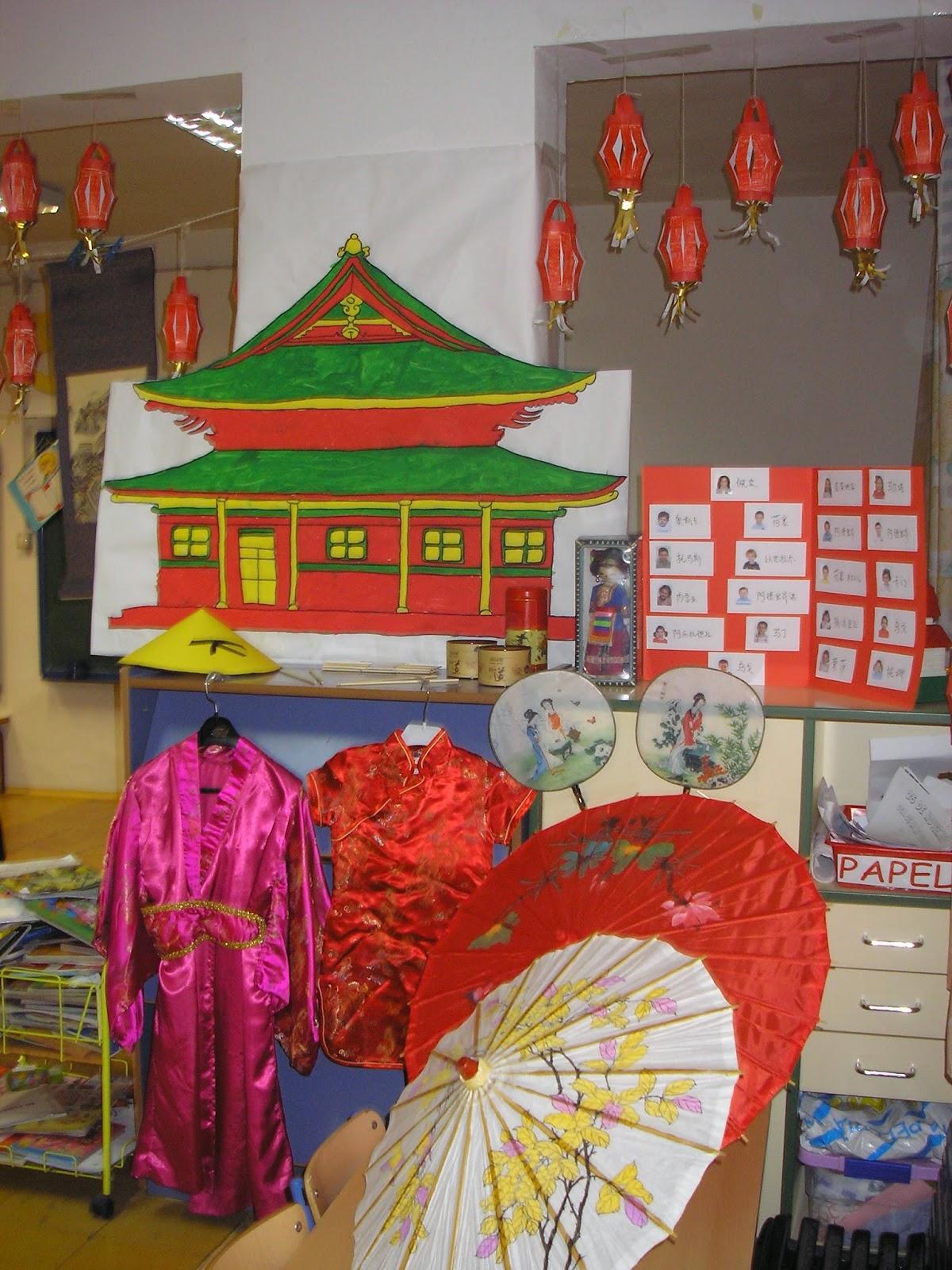 Camachines china en las aulas de 4 a os for Adornos para murallas