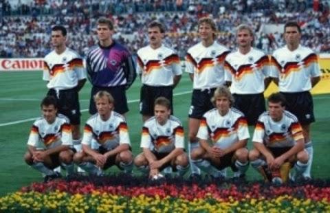 Seleção Alemanha tricampeão do mundo copa do mundo 1990