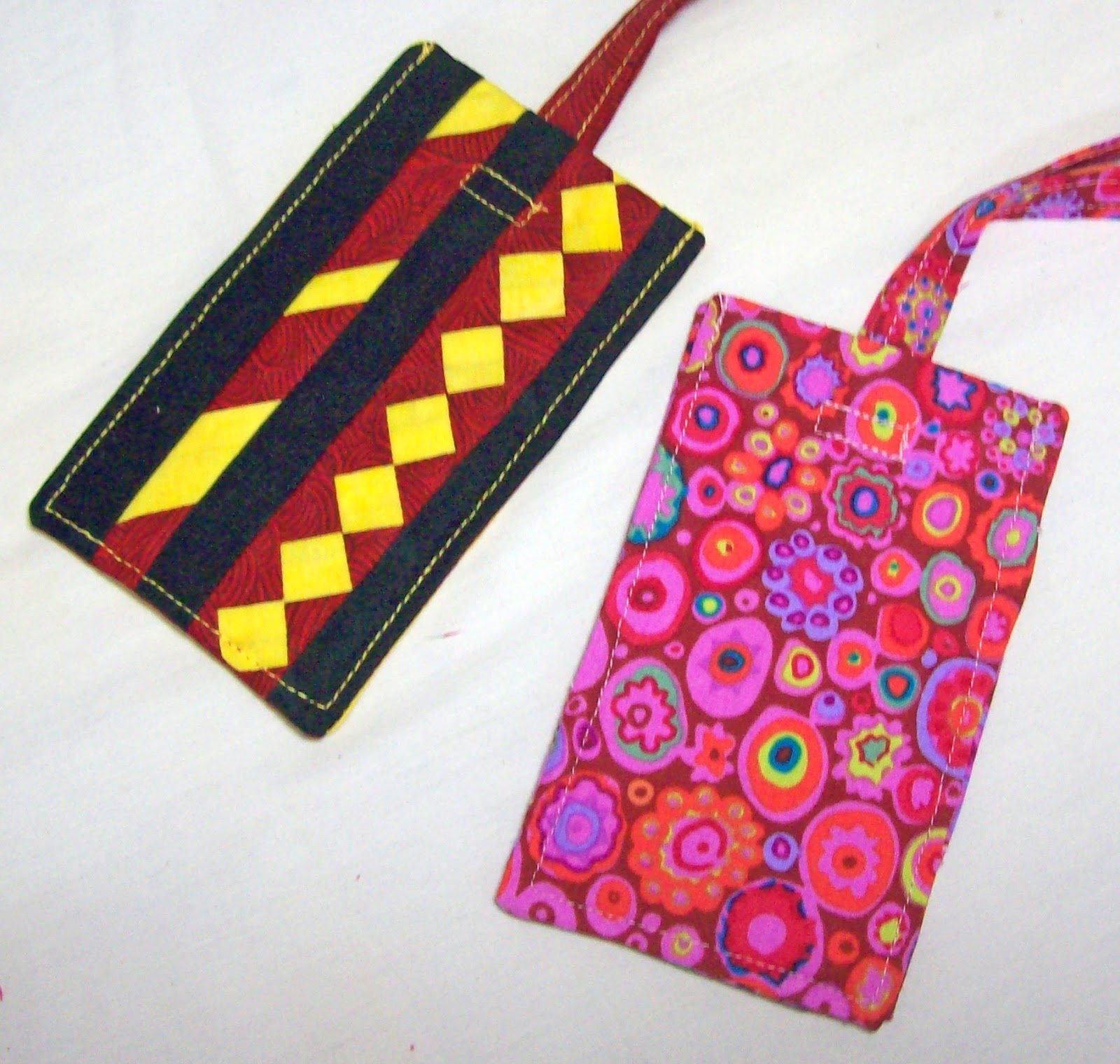 Sid's In Stitches: Luggage Tags Are EASY! : quilting luggage tags - Adamdwight.com