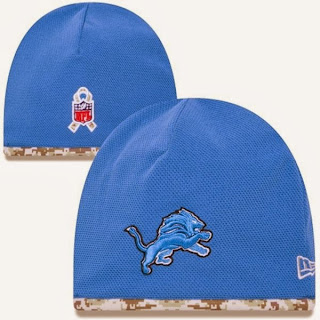 New Era Detroit Lions NFL Salute to Service On-Field Knit Beanie